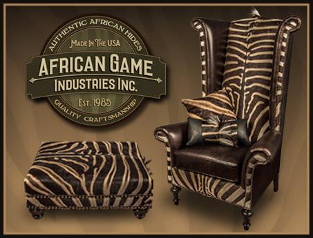 Handmade African Zebra Skin Furniture