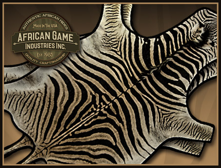 Genuine African Zebra Hide Rugs