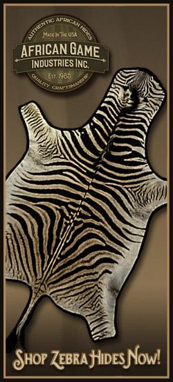 African Game Zebra Skin Rugs